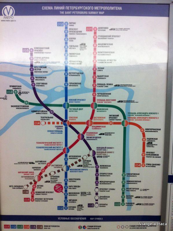 mapa metro sant petersburg